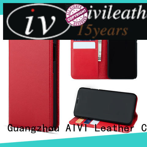 AIVI cool red leather phone case for sale iphone XS
