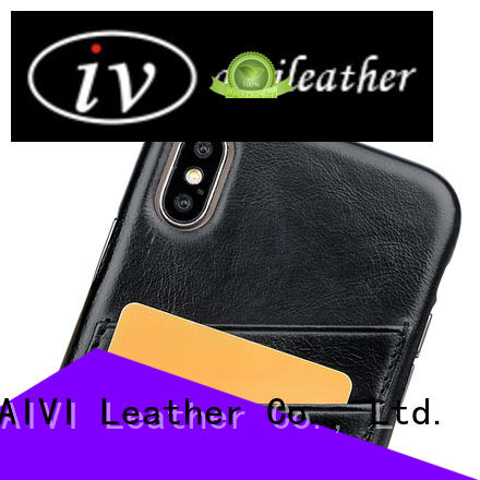 AIVI personalized apple tan leather case factory for iphone X
