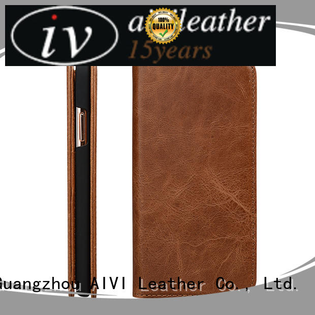 leather leather mobile phone cases factory for iphone XS AIVI