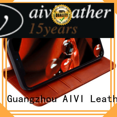 AIVI cover leather cell phone case wholesale for iPhone