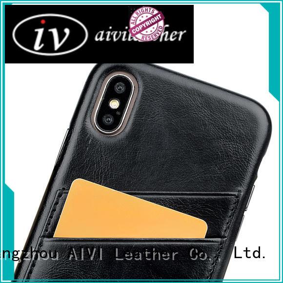 convenient iphone leather flip case accessories for iphone 8 / 8plus