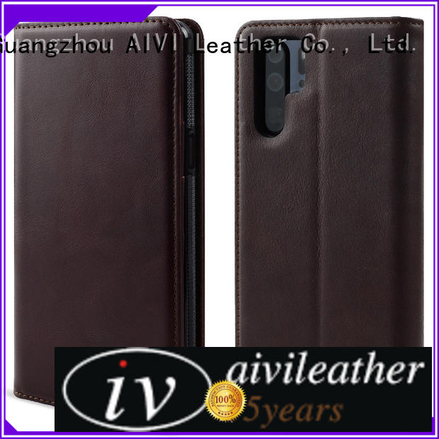 leather phone cases factory for HUAWEI P30 AIVI