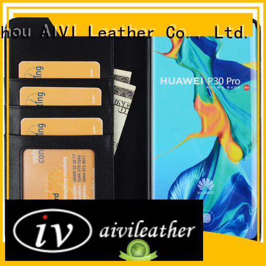 AIVI customized leather phone cases supply for Huwei