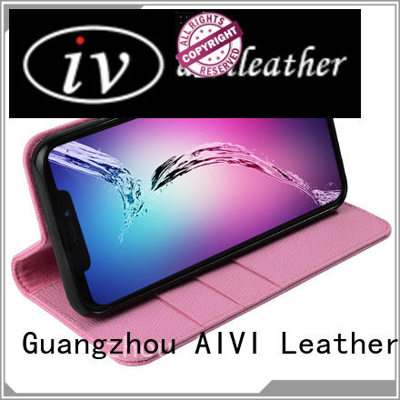AIVI handbag leather card case wallet factory for iphone XR