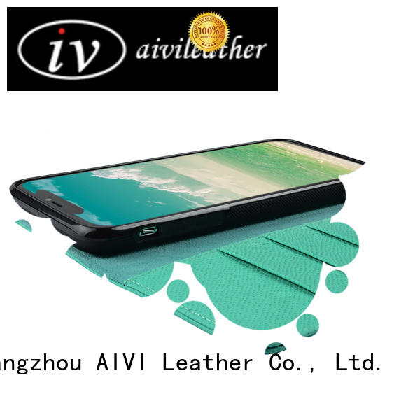 AIVI brown leather card holder wallet mens factory for iphone XR