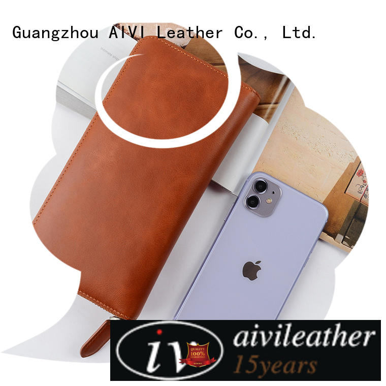 reliable leather card case wallet manufacturer for iphone X