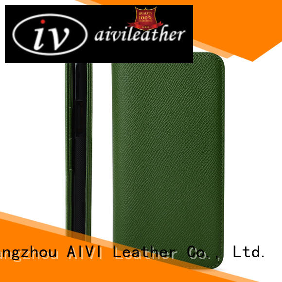 AIVI customized leather card case wallet manufacturer for iphone 7/7 plus