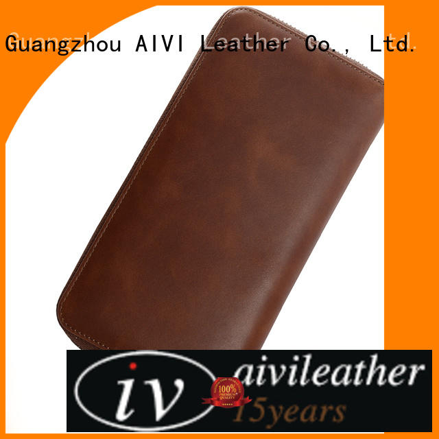 AIVI unisex leather card wallet for sale for ipone 6/6plus