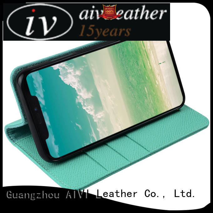 cow leather cell phone case xi for iPhone AIVI