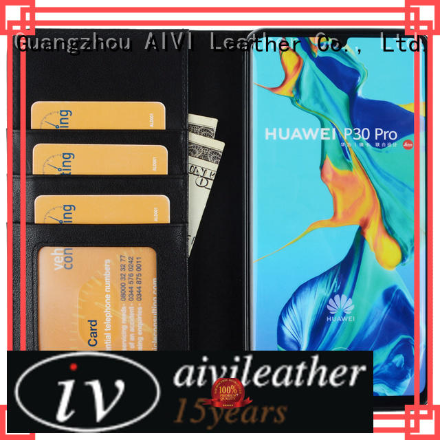 AIVI protective leather phone cases manufacturer for HUAWEI P30