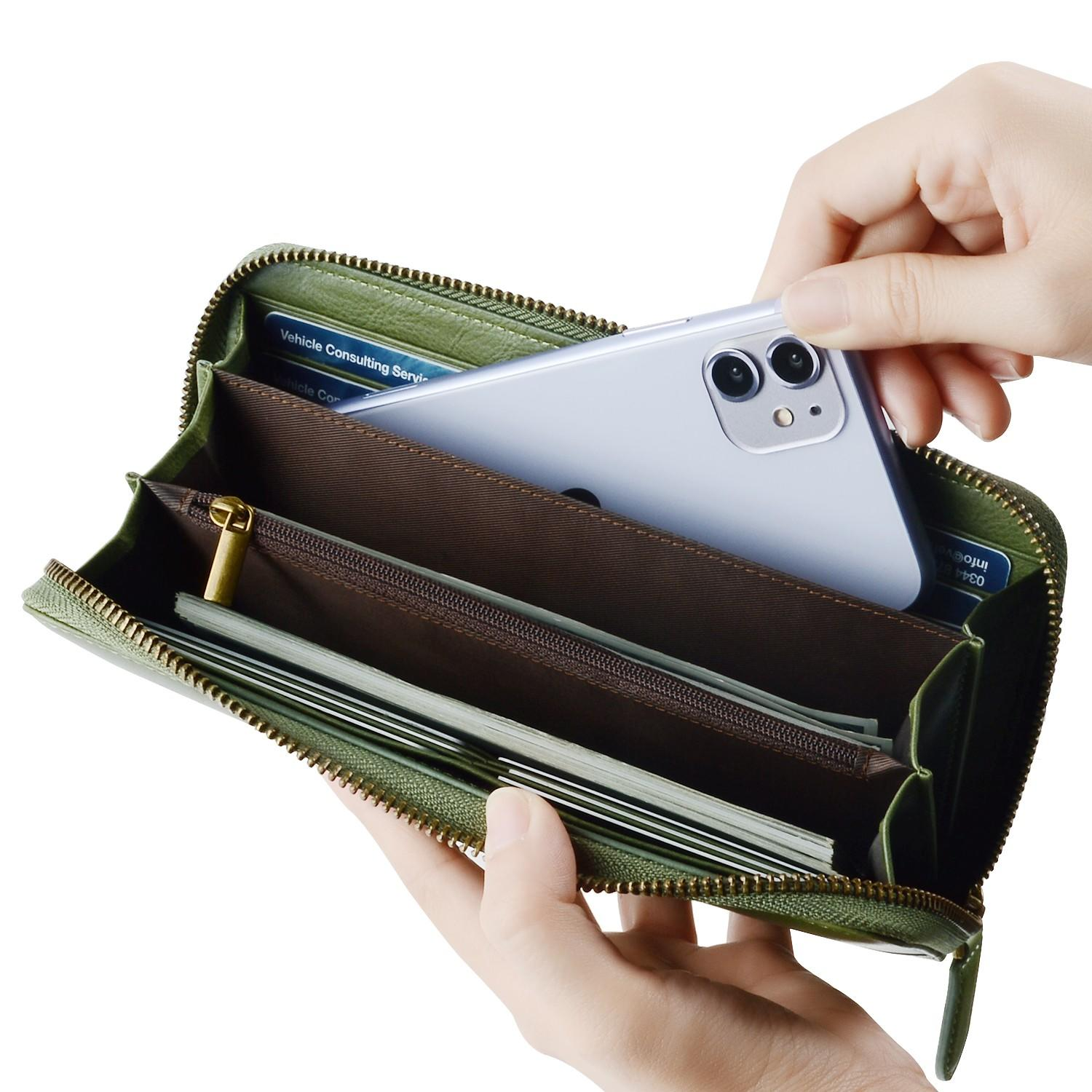 AIVI leather credit card wallet supply for ipone 6/6plus-3