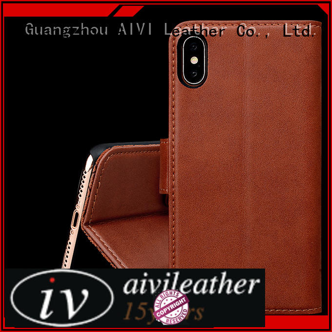 AIVI durable leather iphone case and wallet manufacturer for iphone XS