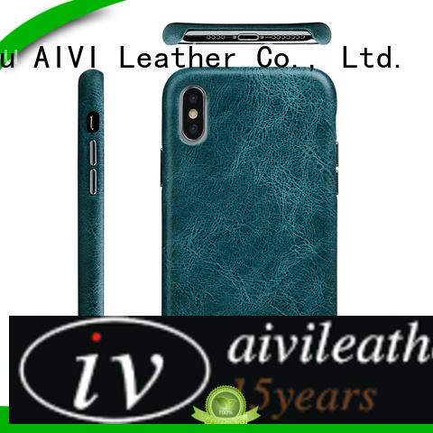 AIVI best apple black leather case luxury for iphone XS