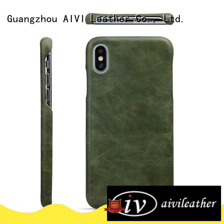 AIVI customized iphone leather xs for iphone XS