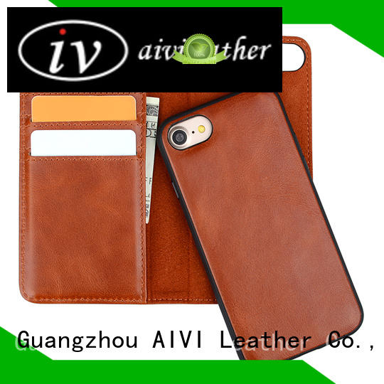 AIVI personalized black leather iphone case protector for iphone XS Max