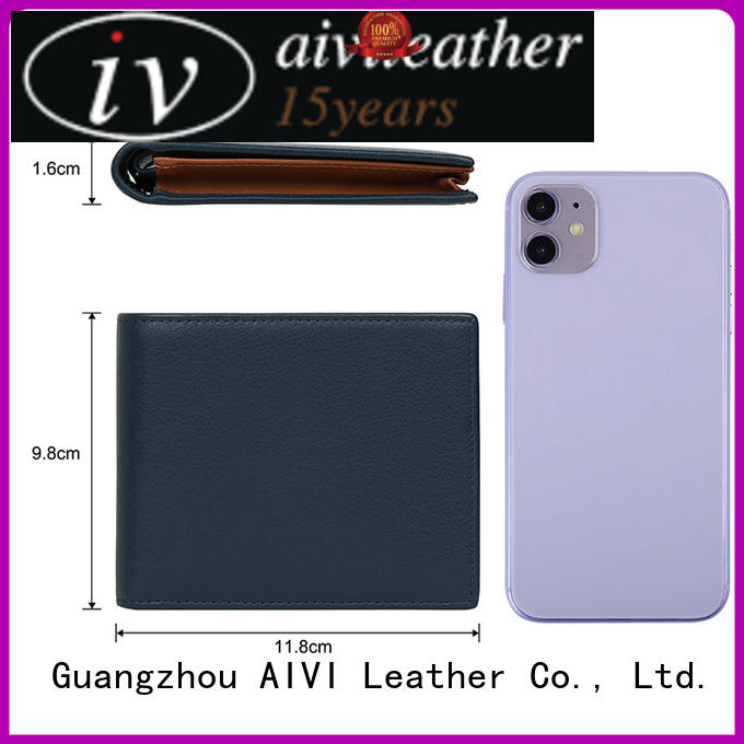 high quality leather card holder wallet mens factory for iphone XS