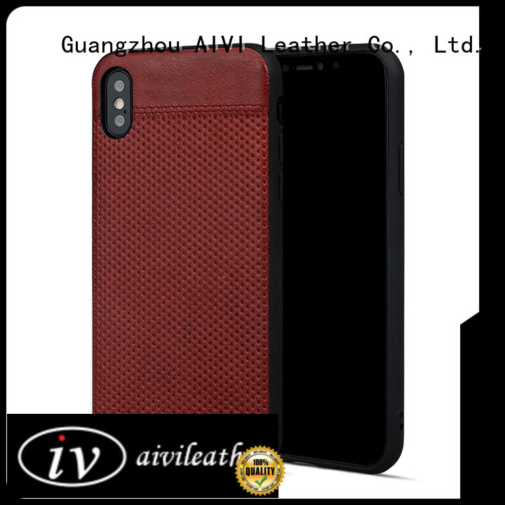 protective apple iphone brown leather case accessories phone XS Max AIVI