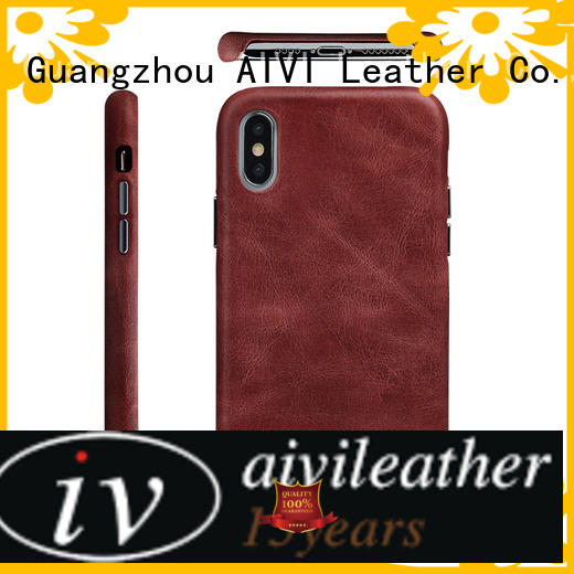 AIVI durable leather iphone wallet case accessories for iphone XS Max