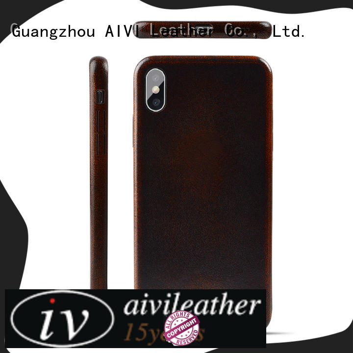 AIVI reliable iphone pouch case leather accessories for phone XS Max