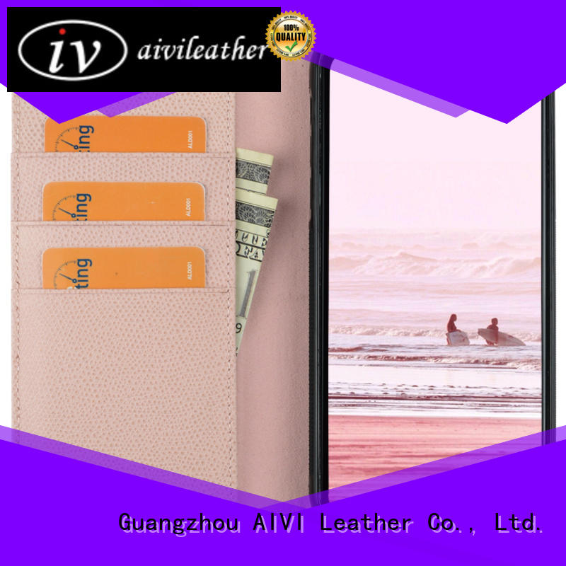 AIVI good quality leather cell phone case pc for iPhone