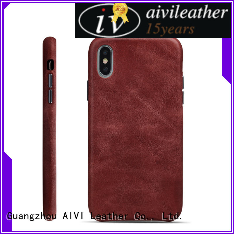 fashion black leather iphone case genuine protector for iphone XS