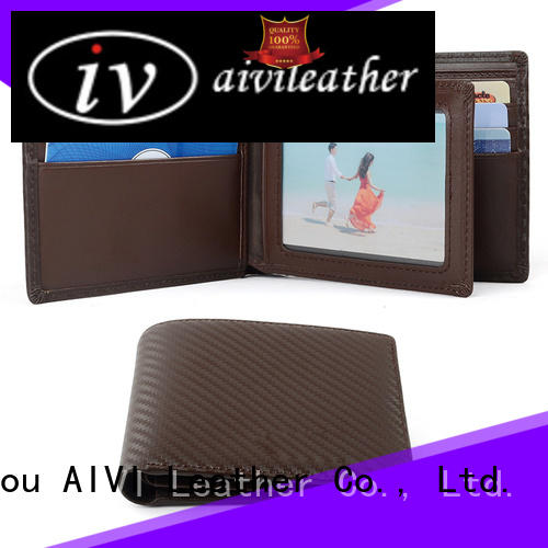 AIVI leather travel wallet easy to carry for business