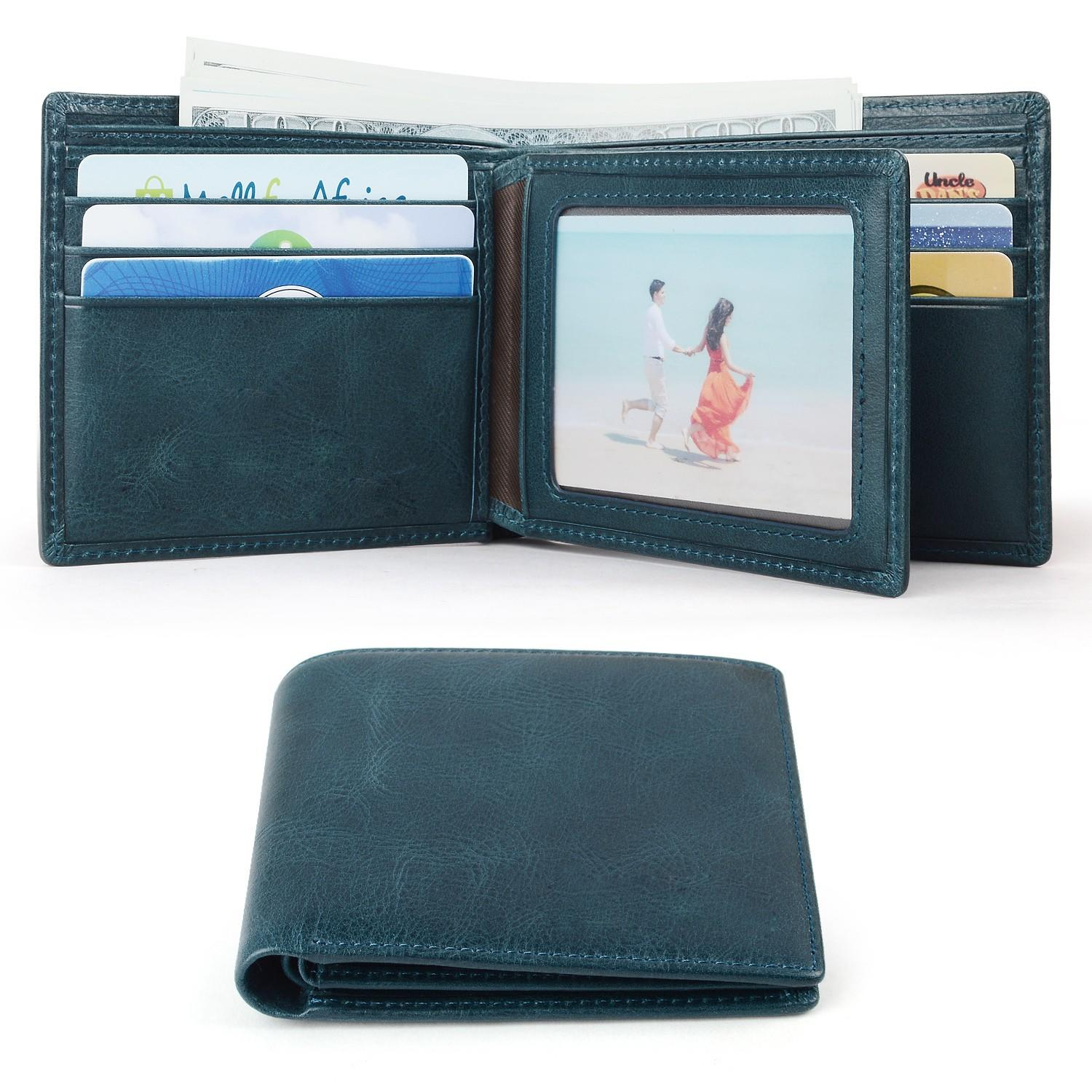 AIVI reliable mens leather wallet with coin pocket supply for iphone X-1