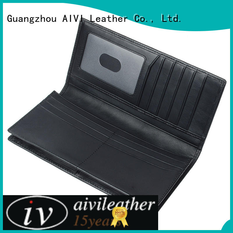 AIVI custom leather wallets online for men