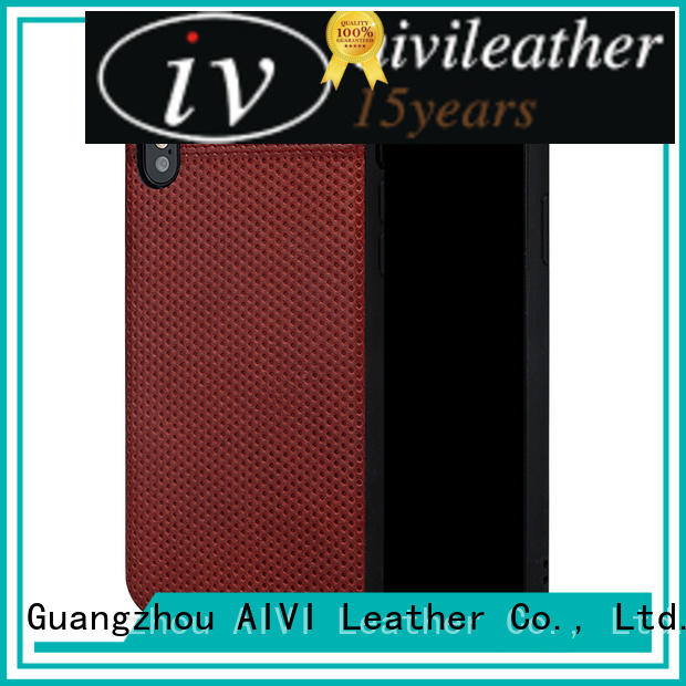 AIVI waterproof iphone leather slip case manufacturer for iphone XR