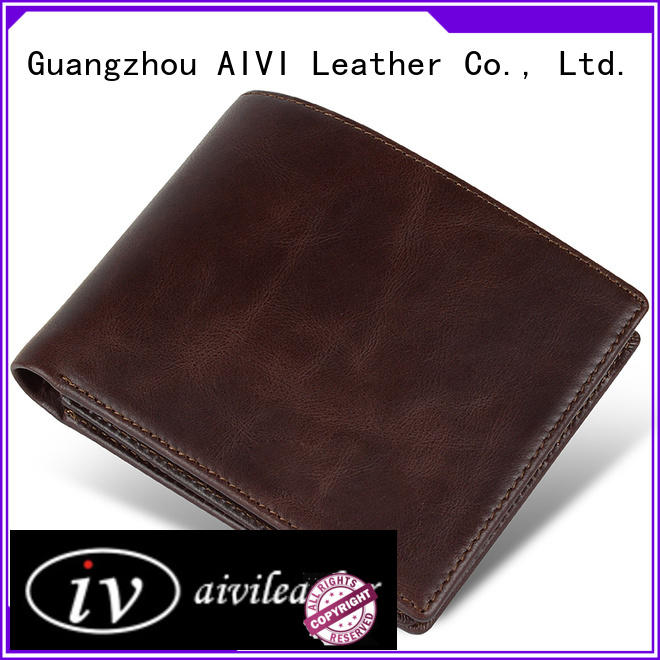 fashion custom leather wallets Manufacturer for travel