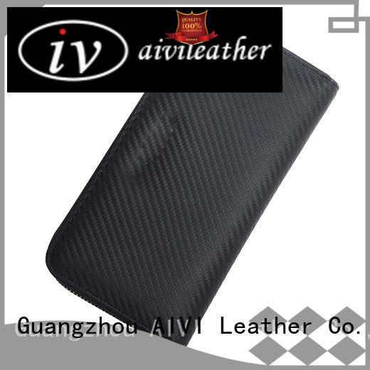 AIVI customized leather card wallet factory for iphone XS