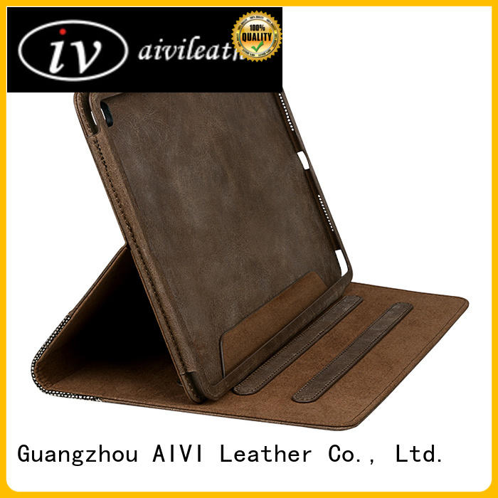 customized brown leather ipad case shockproof manufacturer for MAC BOOK