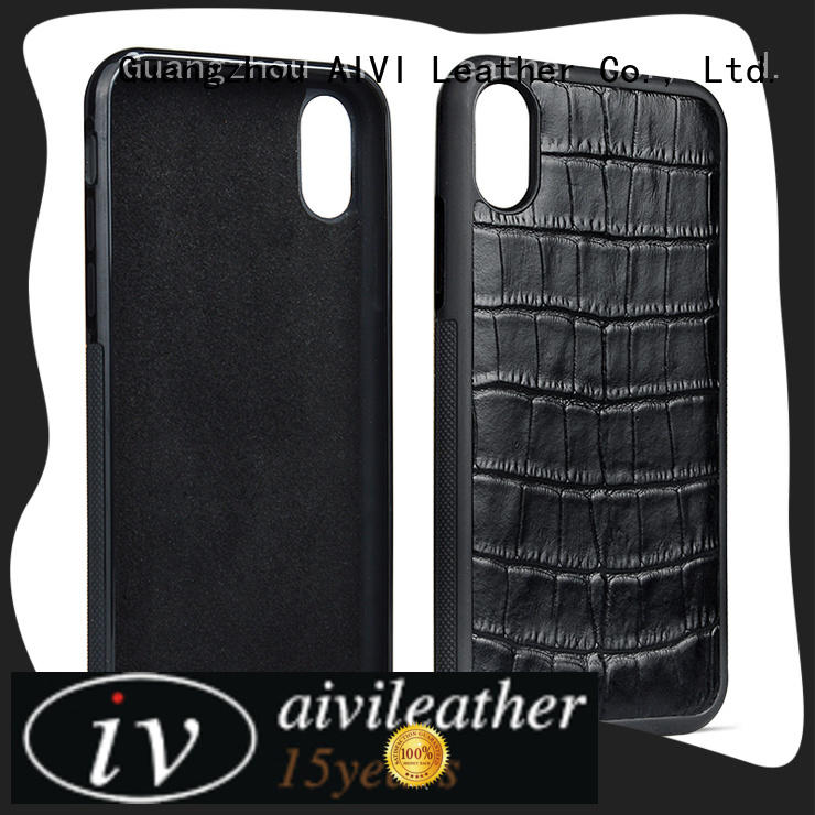 AIVI phone apple tan leather case for iPhone X/XS for iphone XS