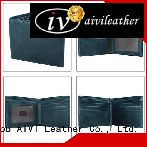 AIVI reliable mens leather wallet with coin pocket supply for iphone X