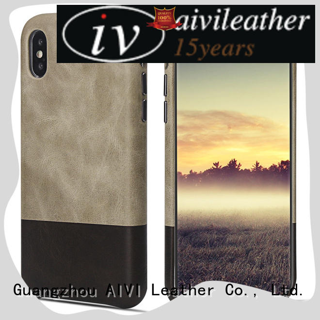 AIVI metal leather phone wallet for iPhone XS Max for iphone X