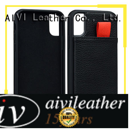 AIVI business apple genuine leather case protector for iphone XR