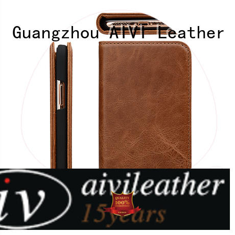 AIVI business best leather iphone wallet for iPhone X/XS for iphone XS