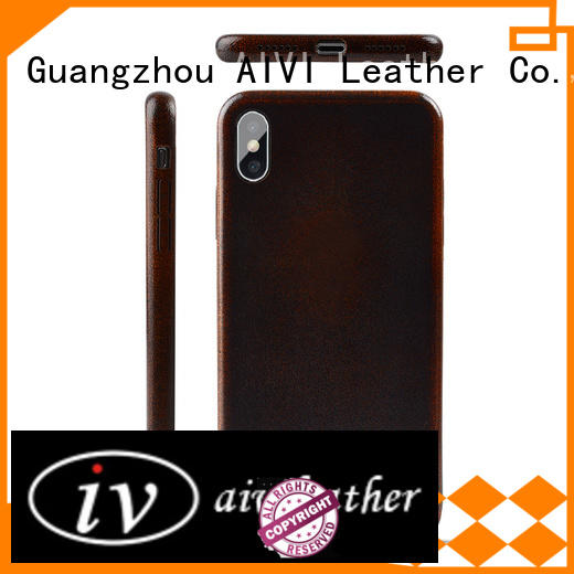 AIVI iphone x leather case factory for iphone X