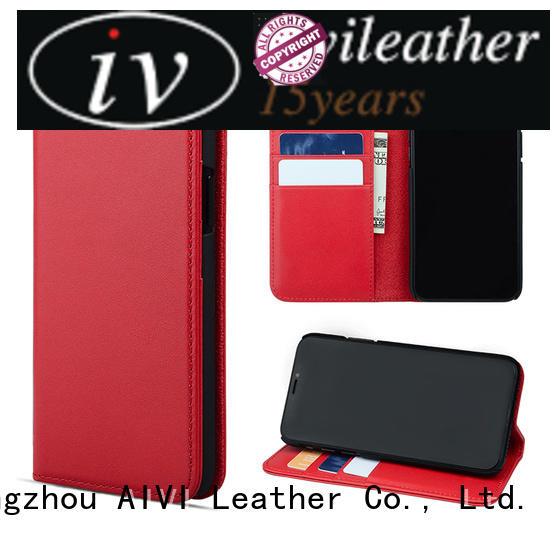 AIVI premium custom leather phone case online for iphone X