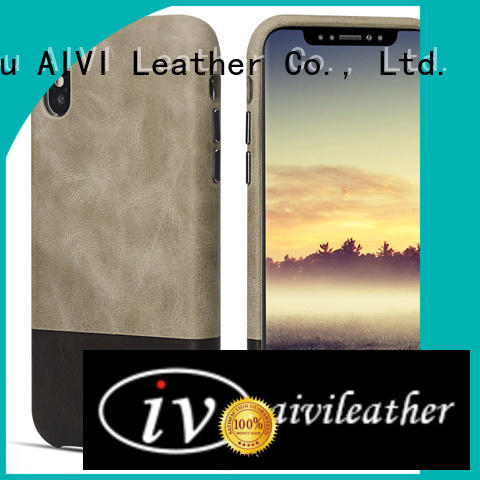 durable luxury leather phone cases for iPhone XS Max for iphone 8 / 8plus