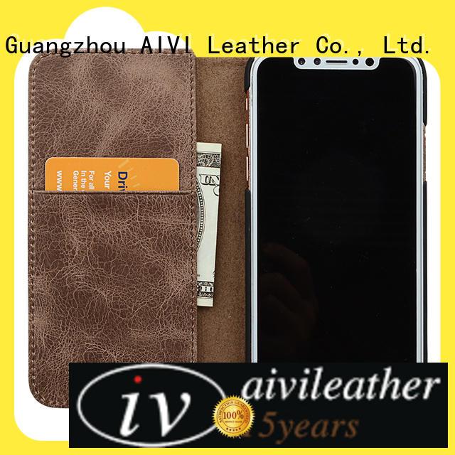 AIVI fine iphone leather flip case supply for ipone 6/6plus
