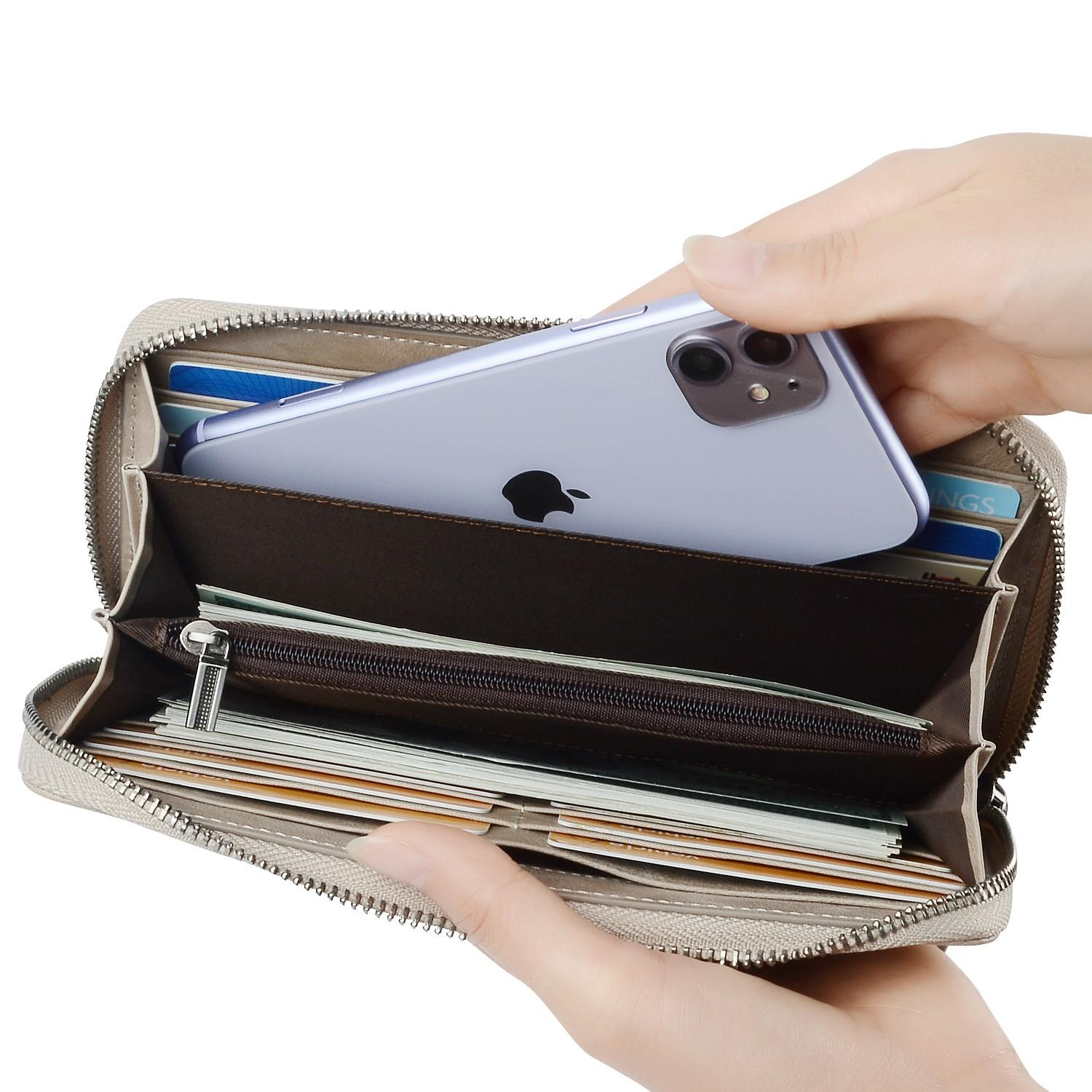 beautiful mens leather wallet with coin pocket for sale for iphone XS-3