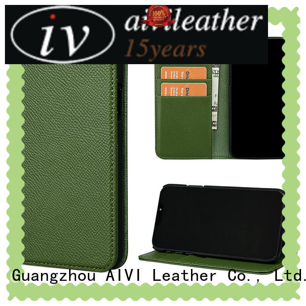 max premium leather cell phone cases personalised for ipone 6/6plus AIVI