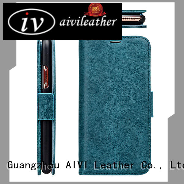 AIVI leather mobile phone covers protector for iphone XS