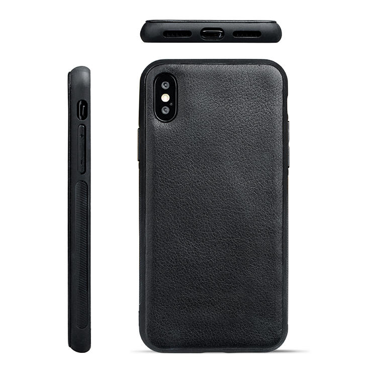 For Apple Genuine Leather Case Durable Fashionable Phone Case For Iphone X/XS-1