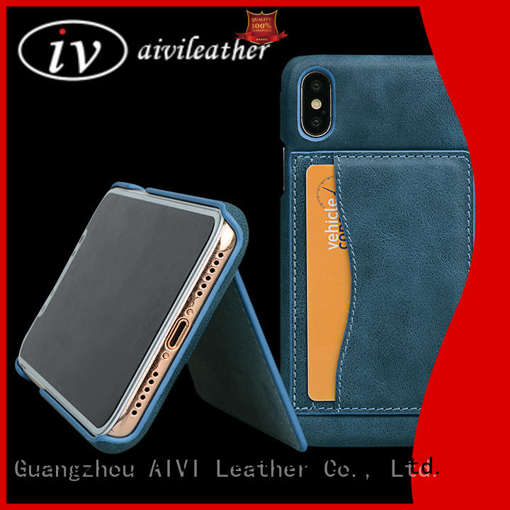 AIVI vintage best leather phone cases accessories for iphone XS Max