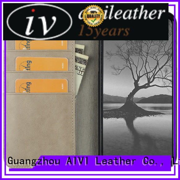 good quality leather cell phone case supplier for mobile phone