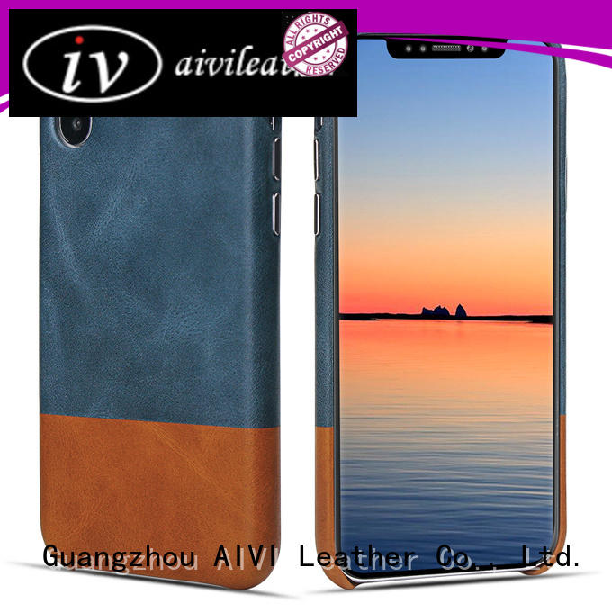 AIVI brown apple tan leather case factory for iphone 7/7 plus